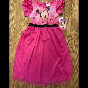 Minnie Mouse 3T girls night gown NWT
